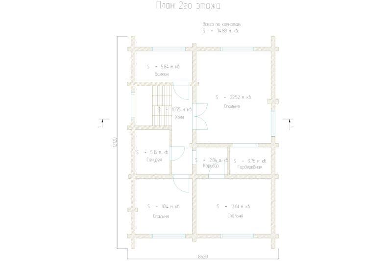этажей 74 1